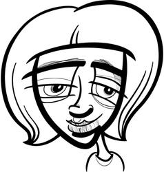 young woman cartoon sketch vector image vector image