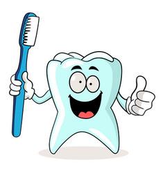 brush your teeth vector image