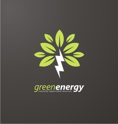 Creative symbol concept for renewable energy vector image vector image
