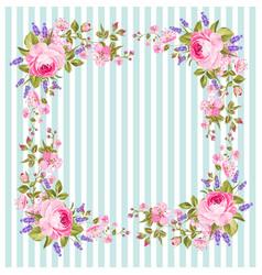 Flower frame for invitation card vector