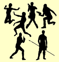 people action silhouette vector image vector image