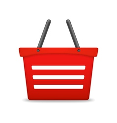 Shopping Basket Icon vector image vector image