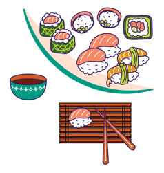 asian cuisine vector image