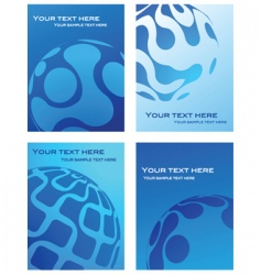 business cards with globe background vector image vector image