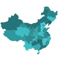 China regions map vector image vector image