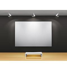 dark gallery interior vector image