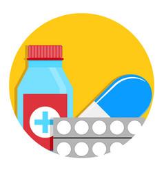 drug icon vector image