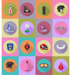 sport flat icons 39 vector image vector image