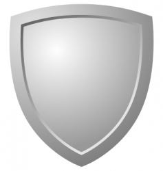 triangular shield vector image vector image