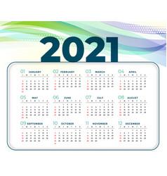 2021 abstract new year calendar design template vector