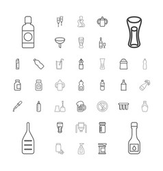 37 bottle icons vector