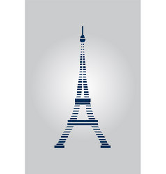 abstract eiffel paris tower vector image