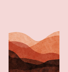 abstract mountain landscape minimalist design vector image