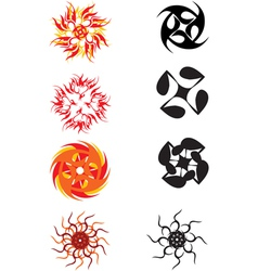 Abstract sun symbol vector