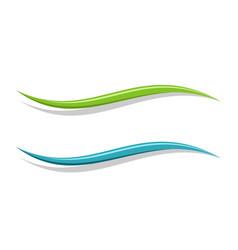 Abstract wave logo template vector