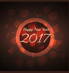 Amazing shiny bokeh effect background for 2017 vector