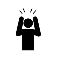 Anxiety glyph icon vector