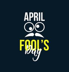 April fools day template design vector