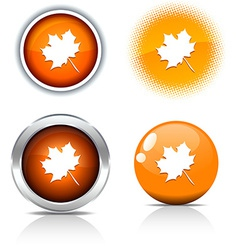 Autumn buttons vector