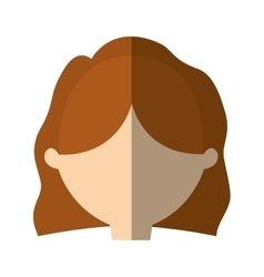 Avatar woman face simple style shadow vector