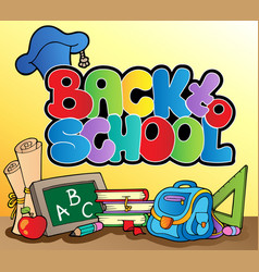 back to school topic 1 vector image