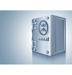 bank safe for money storage vector image