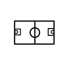 basketball field icon vector image