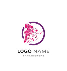 beauty women logo vector image