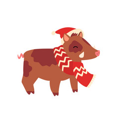 boar symbol new year cute animal chinese vector image
