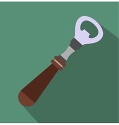 Bottle opener flat icon vector image