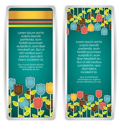 Card with colorful flowers vector image