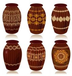 ceramic vases vector image
