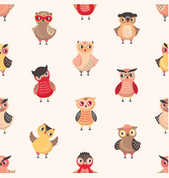 Childish seamless pattern with cute funny baby vector