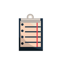 Clipboard document office work business equipment vector