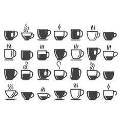 Coffee and tea beverage cups vector