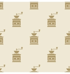 Coffee grinder mill pattern tile background vector image