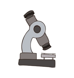 colorful silhouette of microscope tool vector image