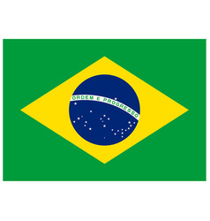 Correct brazil flag accurate ratio font colors vector