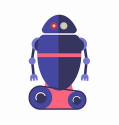 Cute blue robot vector