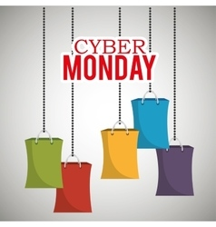 cyber monday bag shopping hanging vector image