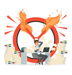 deadline concept office manager and chaos vector image