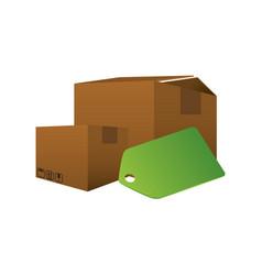 Delivery cardboard box vector