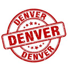 Denver red grunge round vintage rubber stamp vector