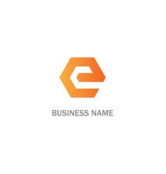 e initial business logo vector image