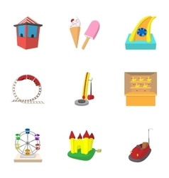 Entertainment for children icons set vector
