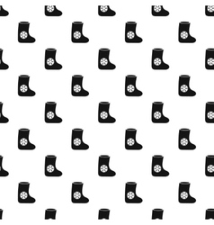 Felt boot pattern simple style vector