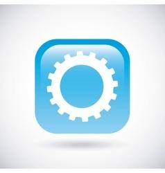 Gear icon Button design graphic vector image