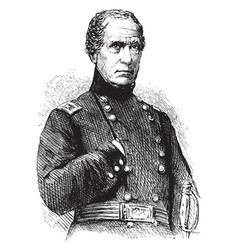 General john e wool vintage vector