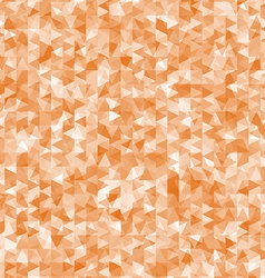 Geometric mess of orange triangles elements vector image