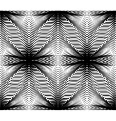 Geometric monochrome stripy overlay seamless vector